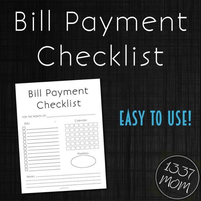 Bill Payment Checklist